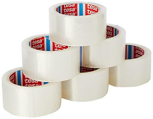 Tesa 57167-00000-05 - Pacco - nastro di imballaggio forte (polipropilene acrilico silenzioso, 66 x 50 mm) colore trasparente