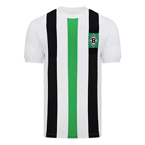 Score Draw Herren Retro - Trikot Borussia Mönchengladbach | Heimtrikot 1973 in Weiß, Größe: XXL