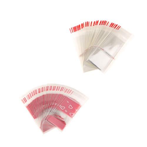 Sharplace 200 Piezas de Bolsa de Celofán Rosa Corazón Mini Bowknot para Regalo de Dulces Maleta