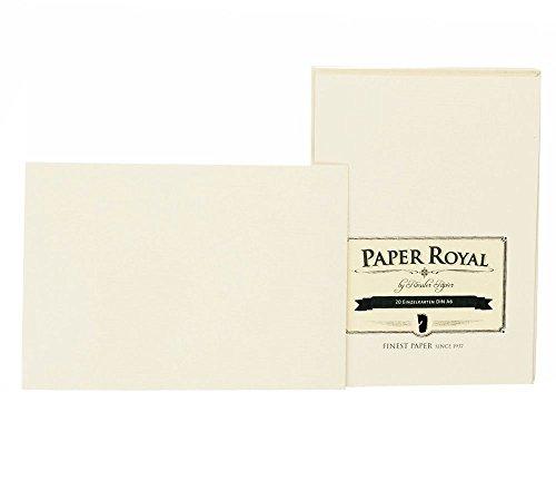 Rössler 2052831008 - Paper Royal - Einzelkarten-Pack A6, 20 Stück, chamois gerippt