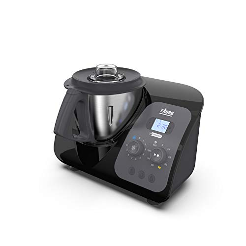 Faure FKC-3L1D1 Magic Air Cooking Robot cuiseur connecté multifonction, 3.3 liters, Noir