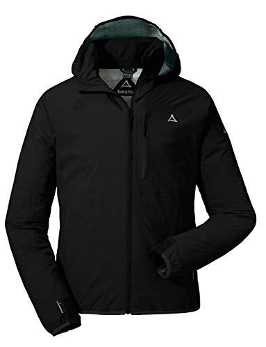 Schöffel Herren Jacket Toronto2 Wind-und wasserdichte Jacke mit verstaubarer Kapuze, atmungsaktive Regenjacke für Männer, Schwarz (black), 50