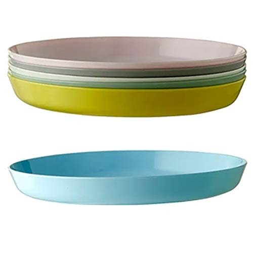 Ikea Kalas 203.786.71 Teller ohne BPA, verschiedene Farben, 6 Stück