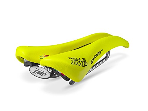 Selle SMP Glider Bicycle Saddle Fluorescent Yellow Road Mountain Bike Seat Steel