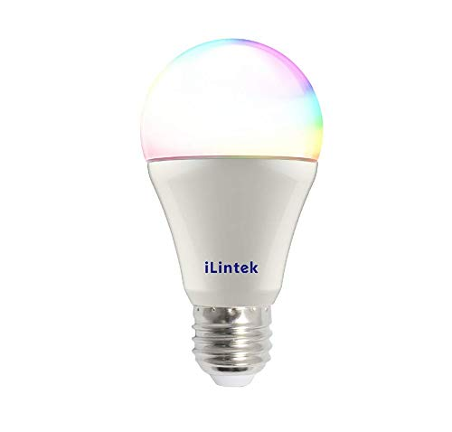 A19 Bluetooth Smart LED Bulb, 9W (60W eq.) Multicolored Color Changing Light Bulb, Dimmable Sunrise Wake Up Lights, Decorations Disco Light, No Hub Needed