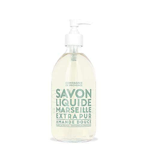 Compagnie de Provence Savon de Marseille Extra Pure Liquid Soap - Sweet Almond - 16.7 Fl Oz Glass Pump Bottle