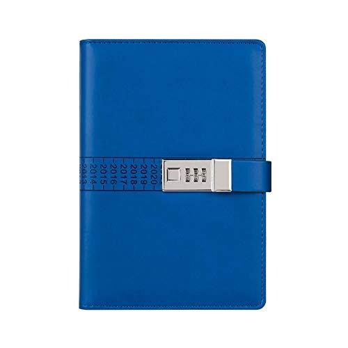 A5 un portátil plegable de cuero de cuero de cuero, con cerradura criptográfica, un cuaderno de bitácora, un diario con cerradura criptográfica, un cuaderno de apuntes, 150 x 220 mm)
