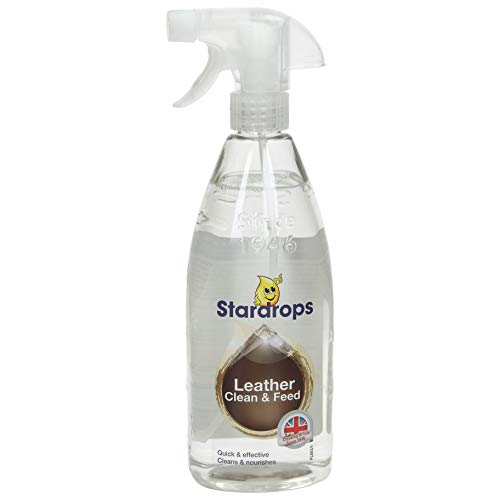 Stardrops Leather Clean Feed Leather Suite Cleaner Sofa Restorer Conditioner Polish 1 Bottle, 750 Millilitre, Pack of 1