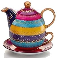 "Tea for one Set ""Charlana"" Porzellan, 4-teilig Kanne: 0,3 l, Tasse: 0,17 l"
