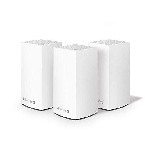 Linksys Système Wi-Fi Mesh Multiroom Velop VLP0103 (Routeur Wi-Fi AC3600 / Extension Wi-Fi, Contrôle Parental, pack de 3, Portée de Signal jusqu'à 400 m2, Blanc)