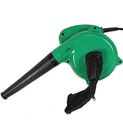 FISHTEC ® Mini Souffleur de Feuilles Electrique - Réversible en Aspirateur avec Sac de Récupération - Longueur du Câble 2M - 500 W - 40CM - Vert