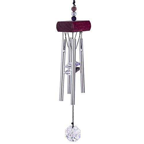 Inconnu H&D Carillon à Suspendre avec Prisme en Cristal et Perles Rouge