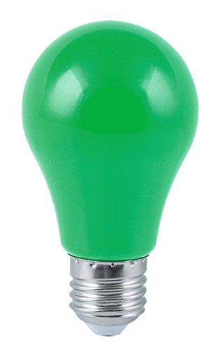 Heitronic LED Bombilla E27, Bombilla de 4W Multicolor para Cadena de luz verde
