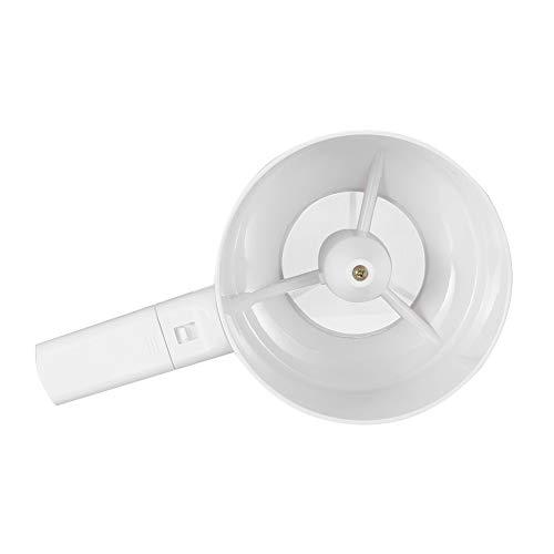 RBSD Weißes Backmehlsieb, Mehlsieb, elektrischer korrosionsbeständiger Kunststoff zum Backen von Küchenhaus