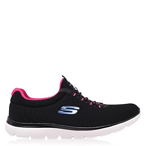 Skechers 12980-BKHP_38,5, Zapatillas Mujer, Negro, 38.5 EU