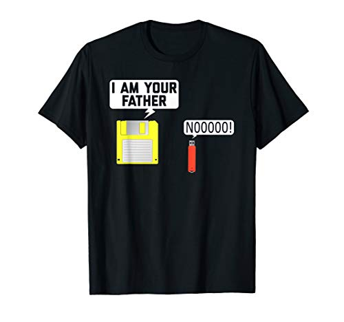 Floppy Disk & USB Flash Drive Nerdy Father Computer Geek Tee