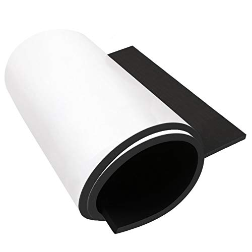 """Dualplex Neoprene Sponge Foam Rubber Roll Adhesive, 15X60 Inches X 1/4"""" Thick, Perfect Cosplay Padding, DIY Project Sheet - Easy Cut Adhesive Multi-Function Soundproof Rubber Foam Sheet"""
