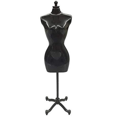 BeesClover Creative Life 30 cm Mini maniquí vestido vestido vestido modelo soporte para muñeca titular negro individual (sin embalaje externo)