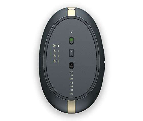 HP Spectre 700 (4YH34AA) kabellose Maus (wiederaufladbar, Bluetooth und USB Dongle, 4 Wege Scrollen, 1.600dpi, 5 Tasten) poseidon blue