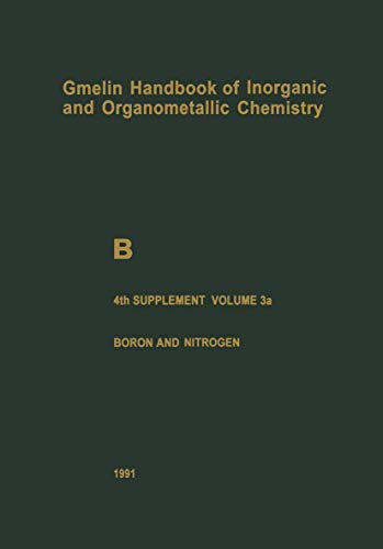 B Boron Compounds: 4th Supplement, Boron and Nitrogen