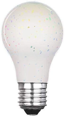 Xqlite LSO-04071 LED-Leuchtmittel mit 3D-Feuerwerk-Effekt als Dekorationsbeleuchtung, Glas, E27, 3.5 W, Transparent, 11.2 x 6.3 x 6.3 cm