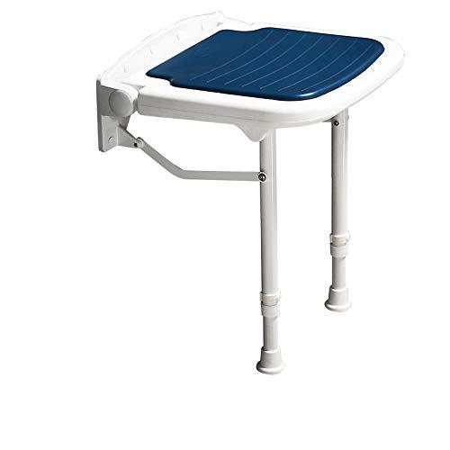 Zplyer hoogteverstelbare badkruk douchestoel douchehulp douchestoel badstoel douchekruk voor professionele verzorging 6-voudig verstelbare klapstoel van aluminium blauw