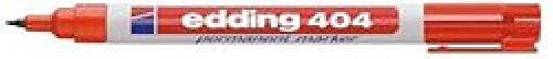 Marcador permanente Edding 404 Punta Redonda 0,75 mm rojo (c