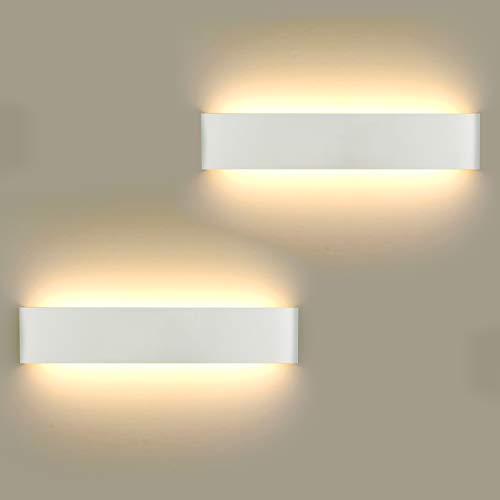 2 Stücke Wandlampe LED 16W, Wandleuchte Innen Modern Wandlampen Wandleuchten Inkl. LED-Platine 110V-260V, für Badlampe Wohnzimmer Schlafzimmer Treppenhaus Flur Wandbeleuchtung, Warmweiß, 3000K