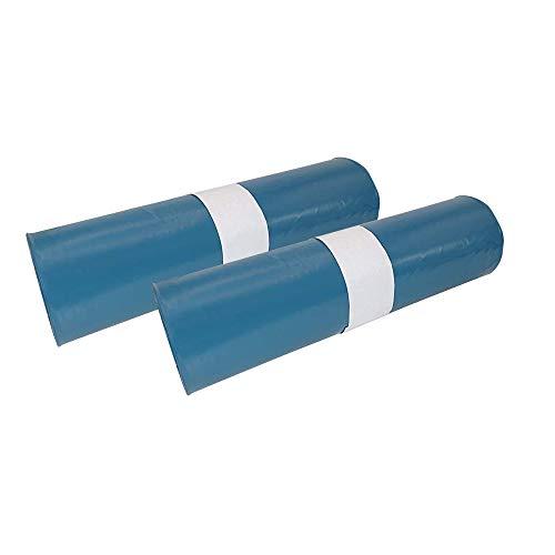 Hossi's Wholesale Abfallsäcke, 2 Rollen à 25 reißfeste Müllbeutel XXL, Müllsäcke blau, Mülltüten extra stark, 120l, 700x1100mm