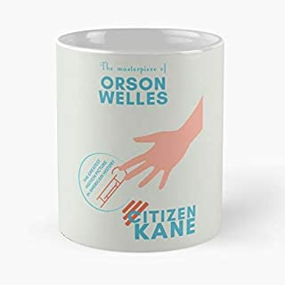 Alternative Playbill Citizen Minimalist Minimal Kane Welles Rosebud Orson Film Taza de café con Leche 11 oz