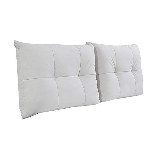 KKCF Cabecero de cama, cojín ergonómico, respaldo resistente al desgaste y transpirable, ropa de dormitorio, 5 colores, 9 tamaños (color: B, tamaño: 120 cm)