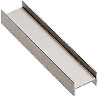 2 perfiles H de aluminio de 3 m para puertas correderas de armario, color champán: Amazon.es: Bricolaje y herramientas