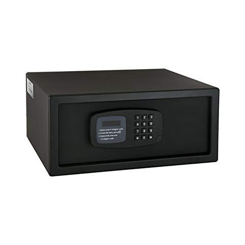 ASWT-Trsore, elektronische blokkering kluis dual-alarmsysteem 2 lagen thuis klein wachtwoord anti-diefstal-safe, 2 grendels (met reservesleutel) hotelkamersafe