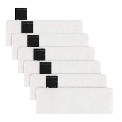 Funnytime Mikrofaser-Tuchset Microfiber Kompatibel mit Kärcher EasyFix Dampfreiniger SC 2, SC 3, SC 4, SC 5 Bodendüse, 6er Pack