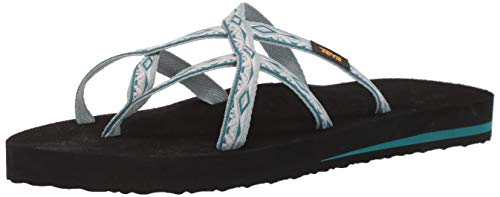 Teva Women's W Olowahu Flip-Flop, Safari Ribbon Gray Mist, 8 Medium US