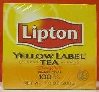 Lipton Yellow Label Tea Bags Orange Pekoe-100's