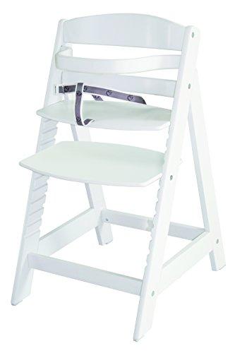 roba Treppenhochstuhl Sit Up III, mitwachsender Hochstuhl vom Babyhochstuhl bis zum Jugendstuhl, Holz, weiß