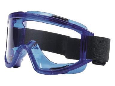 Gafas de protección con amplia lente esférica resistente a los rayos UV – Aptas para uso continuo en laboratorios y farmacias.