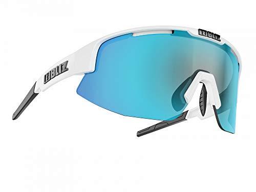 Bliz Matrix SF Sportbrille, matt White/Smoke Blue