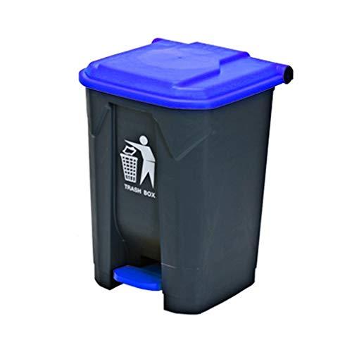 AOYANQI-Cubos de basura Bote de basura plástico, Bote de basura del hogar del hotel del cuarto de baño del retrete Tipo plástico del pedal de basura Bote de basura de varios tamaños industrial comerci