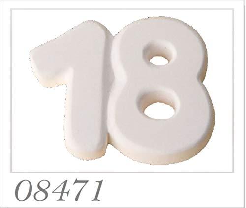 12 PEZZI Gesso Gessetto numero 18 anni diciottesimo compleanno bombonier