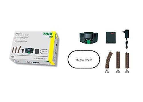 Trix 21000 Digital-Modelleisenbahn-Startpackung, Spur H0, Startset mit C-Gleis Schienen und Mobile Station