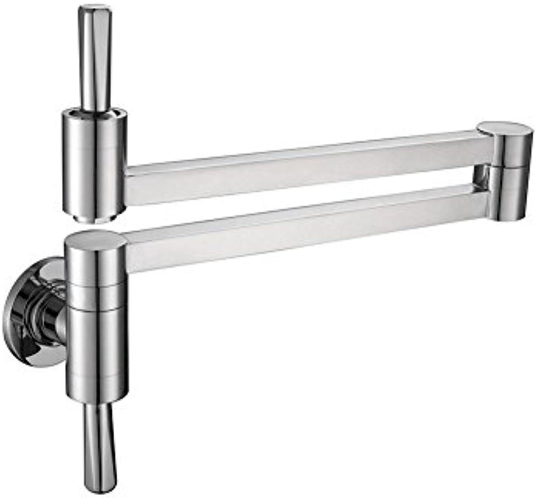 TSAR003 Messing Topf Filler Küchenarmatur Wandhalterung 2 Griffe , Chrome Farbe