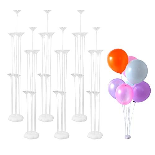 FORMIZON Kit de Support de Ballon, 6 Pcs Supports de Ballon de Table Stand Bâtons de Ballon avec Support en Plastique pour Bureau Anniversaire Mariage Baby Shower Fête de Remise des Diplômes