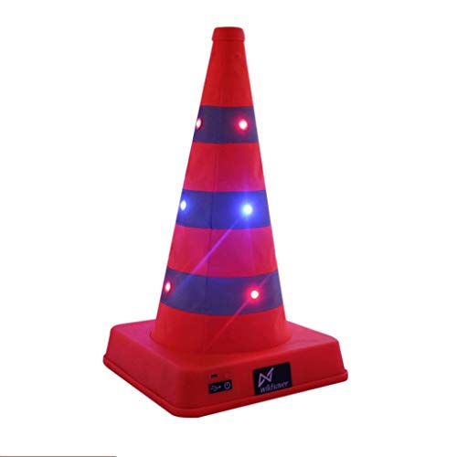 Traffic Cones Pop-up Reflective Traffic Safety Cone with LED Light for Night Time Roadside Emergency Work Area Protection