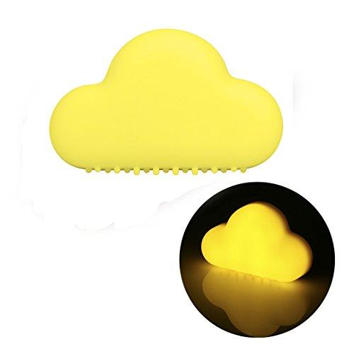 LightsGoal LED Notte Nube, sensore di movimento lampada da parete, ricaricabili cloud Nightlights per la scala, cucina, disimpegno, balcone, camera dei bambini (Giallo)