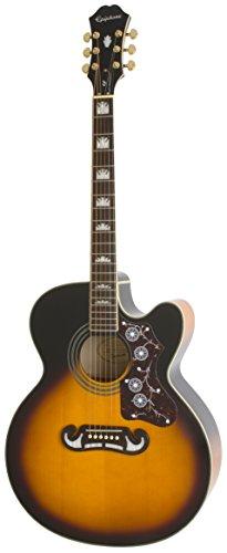 Epiphone EJ-200SCE - Guitarras electroacústicas, color vintage sunburst