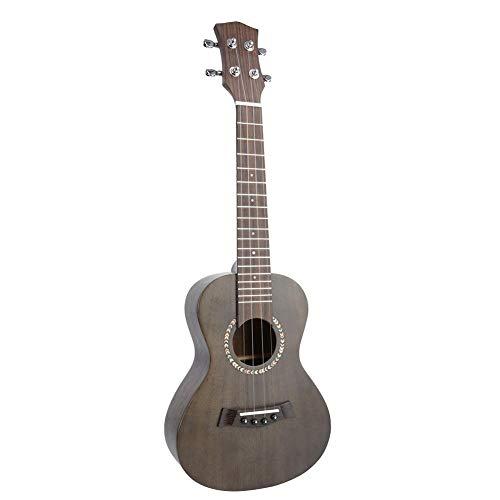 Ukelele infantil de madera, 23 pulgadas, 4 cuerdas, guitarra hawaiana, instrumento musical, regalo de cumpleaños para principiantes en la música, marrón oscuro