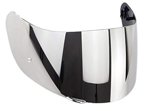 Helmvisier Agv K5 K1 K3 sv K5s S4-sv Horizon Skyline Stealth-sv Visier Klar Blau Smoke Iridium Gold Spiegel Ersatzvisier Gt-2 Nicht Original Aftermarket (Silber Spiegel)