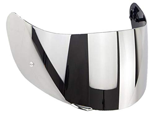 Visiera Casco AGV K3 Sv K1 K5 K5s S4-Sv Horizon Stealth-Sv Skyline Strada Numo Aftermarket Oro Blu Specchio Arcobaleno Trasparente Fume GT-2 (Specchio Cromato)